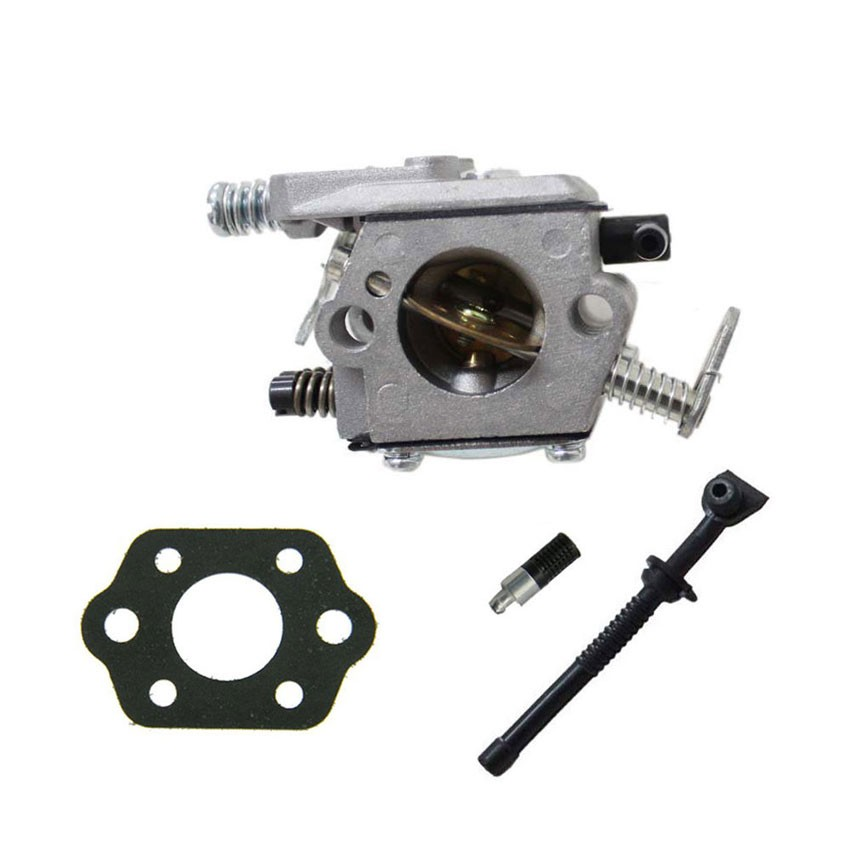 New Replacement Walbro Carburetor FOR STIHL MS170 MS180 017 018 SAW WT Oil filter oil Line Gasket