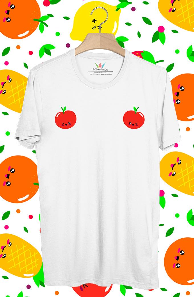 BP375 เสื้อยืด แอปเปิ้ล