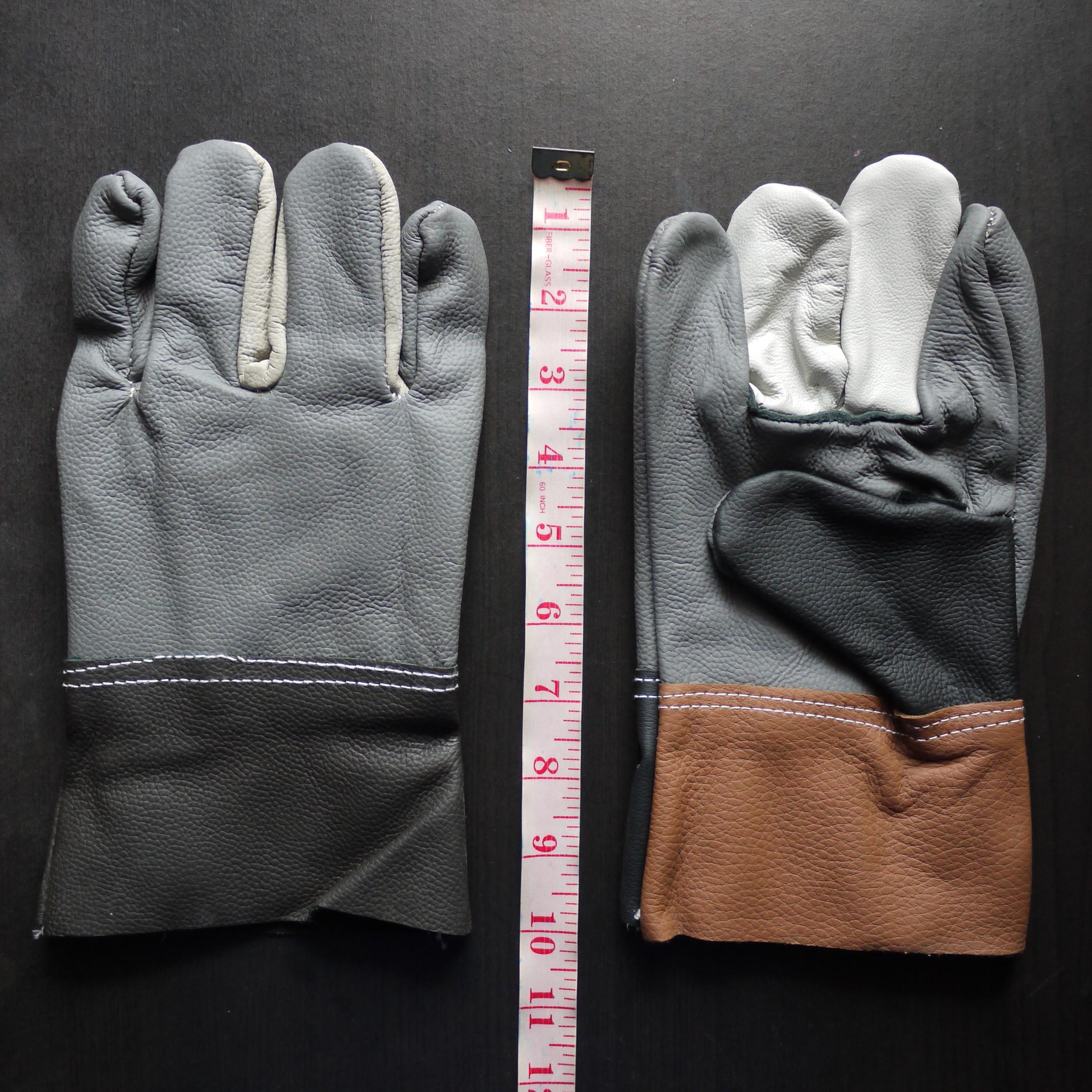 ถุงมือหนังเฟอร์นิเจอร์ล้วน ยาว 10 นิ้ว