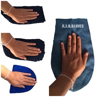เศษผ้าสีปึก ขนาดฝ่ามือ
