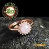 R0035แหวนหยกพม่า สีขาวอมชมพู
