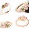R0037แหวนหัวหยกพม่าดีไซน์สวย 3 สี