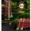 ต่างหูหินหยก Nephirte สีเขียวจักรพรรดิE0009