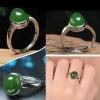 R0020แหวนหัวหยก Nephrite Tian Biyu