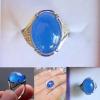 R0042แหวนหินโมรา Chalcedony / Agate