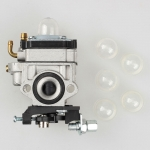 Carburetor Carb with 5 Pcs Primer Bulb For SHINDAIWA T242X T242 LE242 Hedge Trimmer Homelite ECHO SHC-260 SHC-261