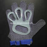 ถุงมือสแตนเลส 5 นิ้ว สั้น-ห่วงกลม