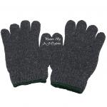 ถุงมือผ้าทอ 5 ขีด สีเทา