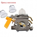 CARBURETOR+Primer Bulb For Homelite 26cc 30cc Trimmer Brushcutter RYOBI RY52014 RY52502 Rep # 308054003 985624001 3074504