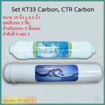 ชุดไส้กรองน้ำ 2 ชิ้น Inline CTR Carbon, KT33 Carbon