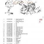 ไดอะแกรม หรือ โมเดล เลื่อยยนต์ stihl ms 180