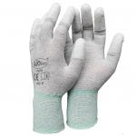 ถุงมือป้องกันไฟฟ้าสถิตย์เคลือบ PU ปลายนิ้ว (ESD Glove)