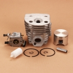 46 mm Cylinder Piston kits+ Walbro Carburetor +Fuel Filter For Husqvarna 55 51 Chainsaw Carb # 503281504