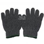 ถุงมือผ้าทอ 6 ขีด สีเทา