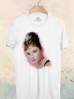 BP547 เสื้อยืด Audrey Hepburn