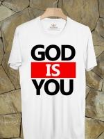 BP289 เสื้อยืด GOD IS YOU