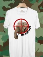 BP303 เสื้อยืด Head Shot Elephant