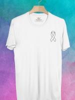 BP418 เสื้อยืด White Ribbon