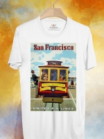 BP127 เสื้อยืด Retro City : San Francisco