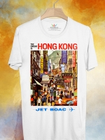 BP120 เสื้อยืด Retro City : Hong Kong