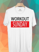 BP454 เสื้อยืด Workout Sunday