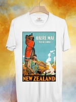BP123 เสื้อยืด Retro City : New Zealand