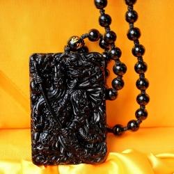 เทพเจ้ากวนอูปางปราบกบฏ พญามังกรหินออบซิเดียนสีดำ