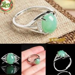 R0057แหวนหัวหยกพม่า