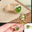 แหวนหัวหยกรูปหัวใจ Hetian Green Jasper R0005 thumbnail 1