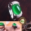 แหวนหัวหยกโมรา สีเขียวมรกต เนื้อใส thumbnail 1