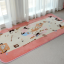 พรมปูพื้นลายแมวเหมียวสีชมพูสุดน่ารัก (ขนาด 90x185 ซม.) thumbnail 4