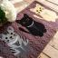 พรมปูพื้นสีน้ำตาล ลายแมว (ขนาด 50x180 ซม.) thumbnail 4