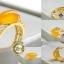 R0051แหวนหินโมรา Chalcedony / Agate thumbnail 1