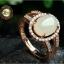 R0038แหวนหัวหยก Tian Biyu สีงาช้าง thumbnail 1