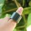 แหวนหยก nephrite Hetian สีนิล(เขียวขี้ม้าออกเทา)ขนาด 25mm. thumbnail 1