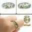 R0014แหวนปลอกมีด หิน Moss Agate thumbnail 1