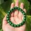 สร้อยข้อมือลูกปัดหินหยกดิบCitroen เขียวจักรพรรดิ์ ขนาด 10 mm. thumbnail 1