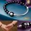 BL0015 สร้อยข้อมือหิน Obsidian Shenzi+ไม้มะเกลือฝังเปลือกหอยเป๋าฮือ thumbnail 1