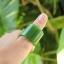 แหวนหยก nephrite Hetian เขียวจักรพรรดิ thumbnail 1