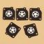 10 PCS Metering Diaphragms Carburetor Gasket Kit For Zama C1M C1S A015006 Lawnmower Blowers thumbnail 1