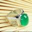 R0028แหวนหัวหยกสีเขียวอ่อน thumbnail 1