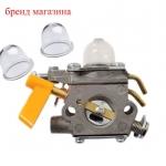 CARBURETOR+Primer Bulb For Homelite 26cc 30cc Trimmer Brushcutter RYOBI RY52014 RY52502 Rep # 308054003 985624001 3074504