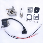 Carburetor + Ignition Coil + Repair Gasket + Spark Plug Chainsaw parts For STIHL 017 018 MS 170 MS 180 Carb Carburador